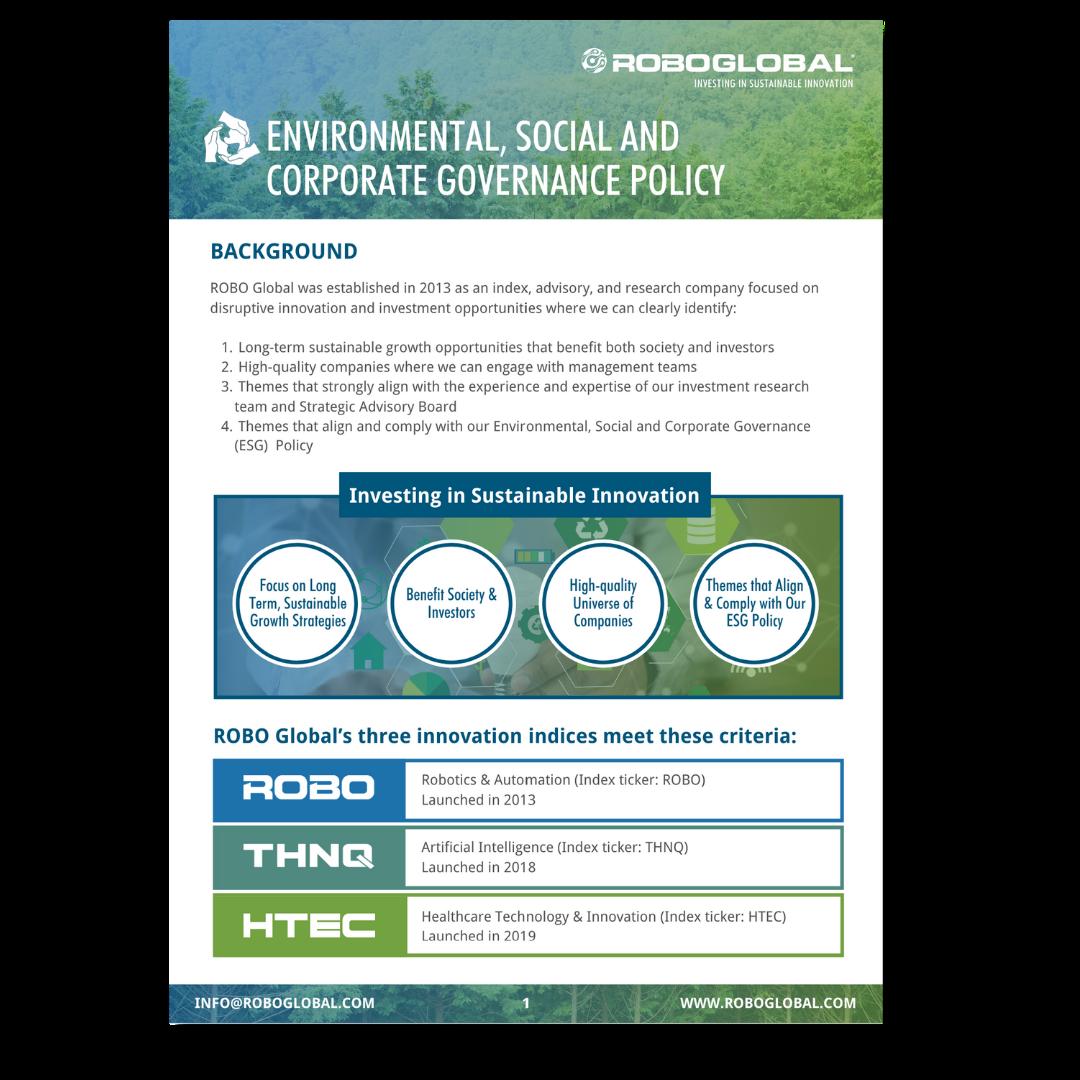 ESG Policy Drop Shadow